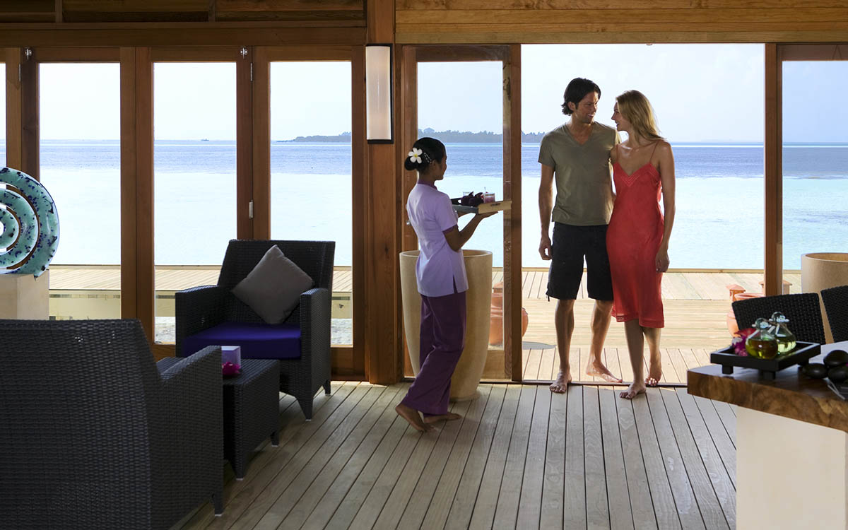 Overwater Spa in the Maldives at Vilamendhoo Island